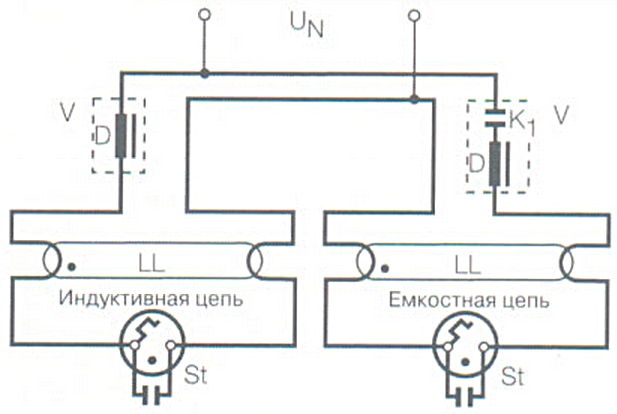 LL - люминесцентная лампа