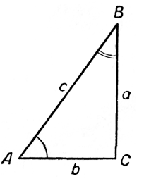 Треугольник. Понятие синуса, косинуса, тангенса и котангенса в прямоугольном треугольнике.