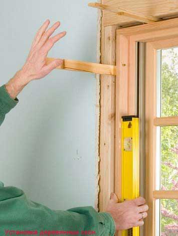Установка окна деревянного своими руками
