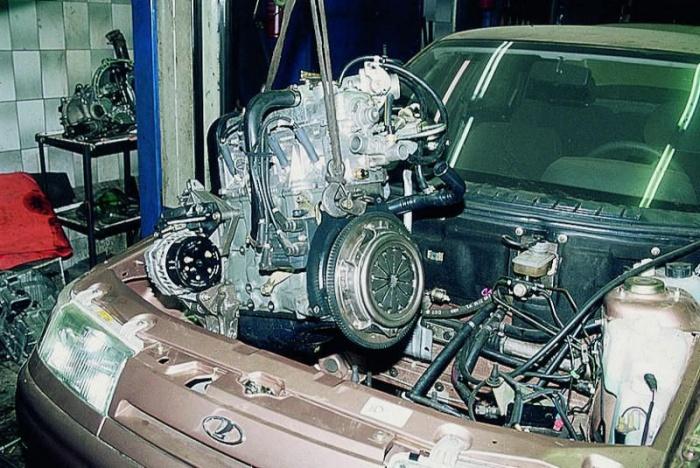 Замена двигателя своими руками 94