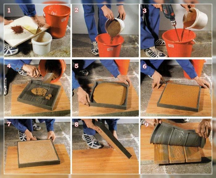Форма для изготовления плитки в домашних условиях