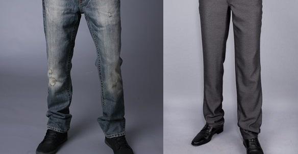Размеры мужских брюк и джинсов