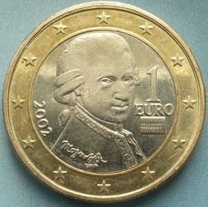 Внешний вид 1 (одного) Евро Австрии