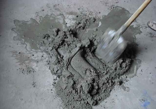 Приготовление растворы строительные тест по бетону