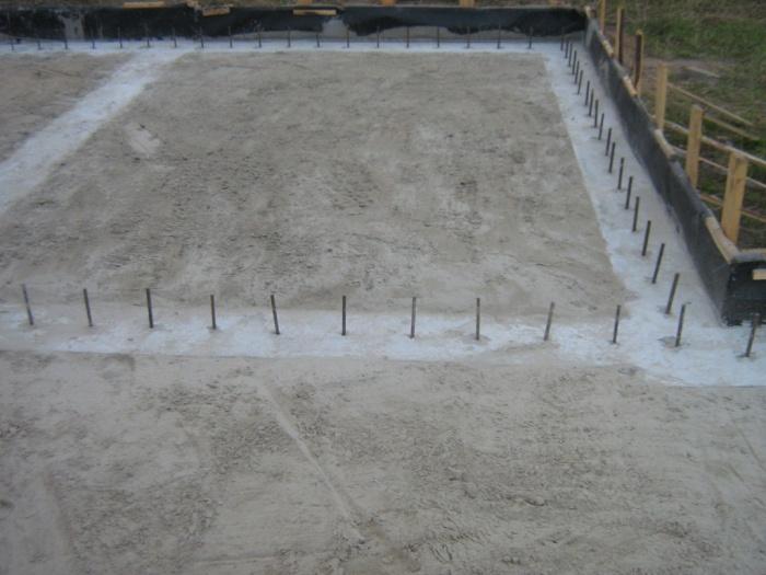Фундамент под плиты перекрытия размеры