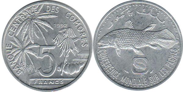 Монеты с изображением рыбы цена 5 копеек 2001г