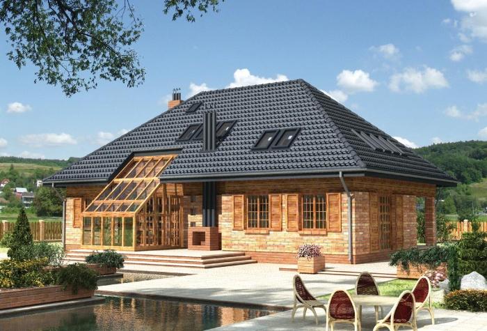 мансарда четырехскатной крыши фото