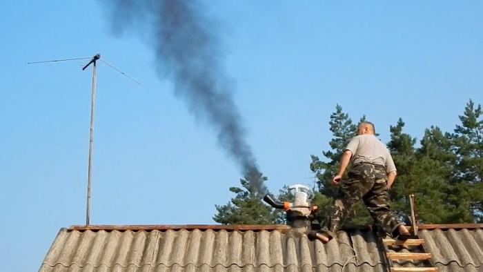 Чистилка для дымохода сборка банного дымохода