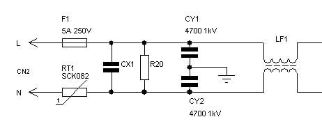 Схема фильтра электромагнитных помех