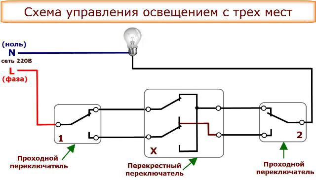 Подключение проходного выключателя 2 ошибки и недостатки. Схема.