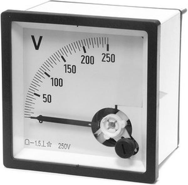 Тип первый - стрелочный амперметр тока, выглядит он вот таким образом: