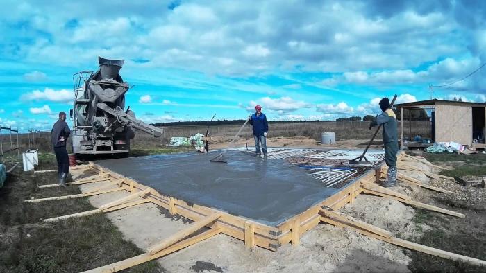 Залив бетона купить бетон в25 в спб цена