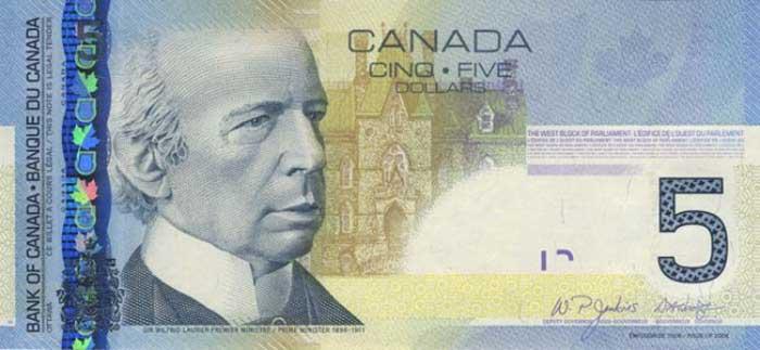 5 канадских долларов пенні