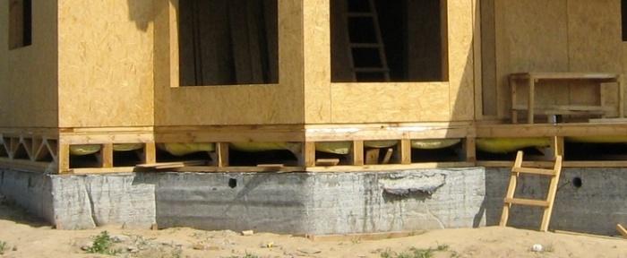 Ленточный фундамент для каркасного дома.